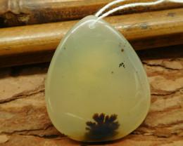 Natural gemstone picture jasper pendant (G2203)