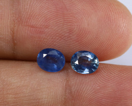 1.55tcw Natural Blue Sapphire Earrings