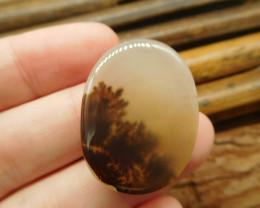 Natural montana agate cabochon bead (G2204)