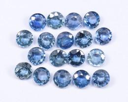 6tcw Natural Blue 4.2mm Round Ceylon Sapphire Parcel