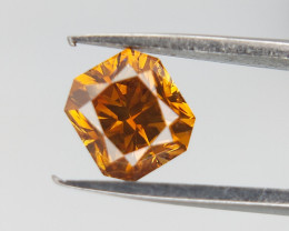 0.50 CTS , Rare Color Orange Diamond , Orangy Yellow Diamond