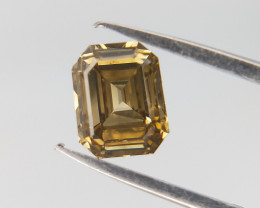 0.45 CTS , Light Champagne Color Diamond , Emerald Brilliant Cut
