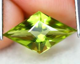 Peridot 1.91Ct VVS Master Cut Natural Neon Green Color Peridot AT0955