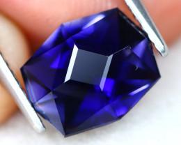 Iolite 1.87Ct VVS Master Cut Natural Purplish Blue Color Iolite AT0966