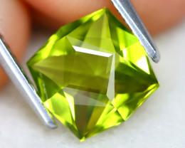 Peridot 1.76Ct VVS Master Cut Natural Neon Green Color Peridot AT0978
