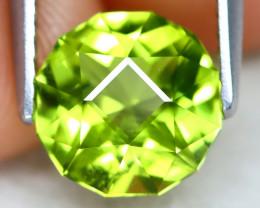 Peridot 2.06Ct VVS Master Cut Natural Neon Green Color Peridot AT0982
