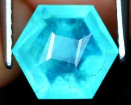 Paraiba Opal 1.58Ct Master Cut Natural Peruvian Blue Opal AT0992