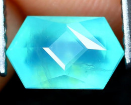 Paraiba Opal 0.85Ct Master Cut Natural Peruvian Blue Opal AT0995