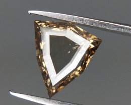 0.64 cts , ,Triangle Shaped Diamond , light Champagne Diamond