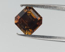 Champagne Black Spread Diamond , Square Radiant Brilliant Cut , 0.3 cts