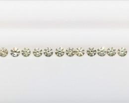 12/1.25 CTS , Natural Round Diamonds , Light Colored Diamonds