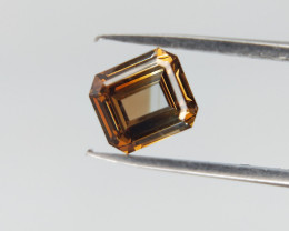 Orange Colour Diamond , Square Radiant Brilliant Cut , 0.4 cts