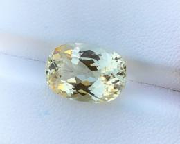 7.45 Ct Natural Yellow Transparent Kunzite Triphane Gemstone