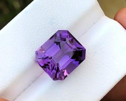 7.25 Ct Natural Purple Transparent Amethyst Gemstone