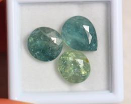9.60ct Natural Greenish Blue Tourmaline Mixed Cut Lot V7772