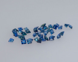 Round 40 PC Cornflower Blue 4.47 CT Sapphire  FREE SHIP!