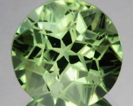 ~CUSTOM CUT~ 7.93 Cts Natural Green Prasiolite / Amethyst Round  13.50mm Fa