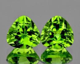 6.00 mm Trillion 2 pcs 1.86cts Green Peridot [VVS]