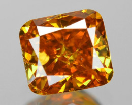 0.32 Cts Untreated Fancy Yellowish Orange Color Natural Loose Diamond