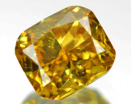 0.38 Cts Untreated Fancy Yellowish Green Color Natural Loose Diamond
