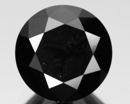 4.07 Cts Amazing Rare Fancy Black Color Natural Loose Diamond