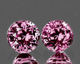 4.00 mm Round 2 pcs 0.70ct Salmon Pink Spinel [VVS]
