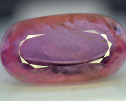 NR - 117 Carats Natural Pink Kunzite facted Cabochon Gemstone