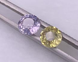 2.96 Cts AAA GRADE Reverse Pair Unheated/Untreated Sapphire