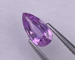 1.07 Cts Dark Lavender AAA Grade  Sapphire Unheated/Untreated
