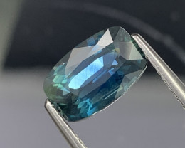 2.26 Cts  Bluish Green Natural Sapphire Top Quality