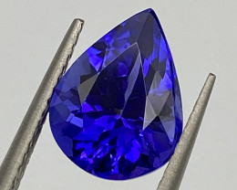 3.95 ct AAAA Plus loupe Clean with fine cutting  Tanzanite Gemstone