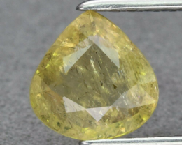 CERTIFICATE Incl.*1.07ct 6.7x6.6mm Pear Natural Unheated Yellow Sapphire