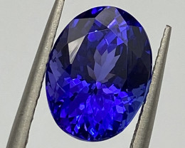 4.98 ct AAAA Plus loupe Clean with fine cutting  Tanzanite Gemstone