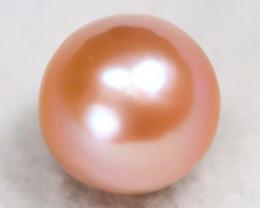 South Sea Pearl 12.7mm Natural Australian Pink Color Salt Water Pear C0910