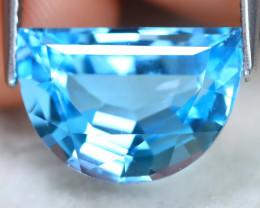 Swiss Blue Topaz 5.69Ct VVS Fancy Cut Natural Swiss Blue Topaz B1004