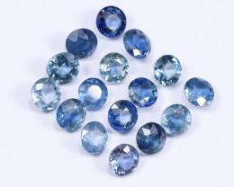 6tcw Natural Blue 4.3mm Round Ceylon Sapphire Parcel