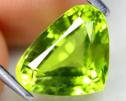 Peridot 2.82Ct VS2 Pear Cut Natural Neon Green Color Peridot B1015