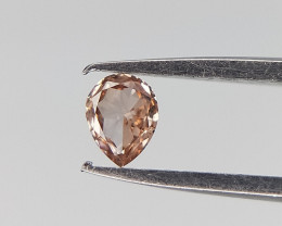0.05 cts , Rarest Brownish Pink Natural Diamond , Pear Brilliant Cut