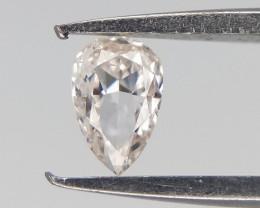 0.08 cts , Very Light Pinkish Diamond , Pear Cut Diamond
