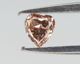 0.06 cts , Light pinkish Brown diamond , Pear Cut Diamond
