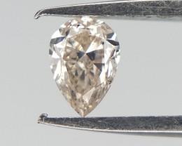 0.10 cts , Very Light Peach White Diamond , Natural Diamond