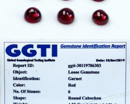 NR!!! GGTI-Certified- 4.55 Cts Garnet Cabochon Parcel
