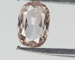 Very light Peach pink Diamond ,0.15 cts , Oval Brilliant Cut