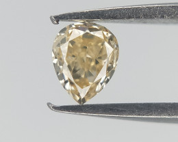 0.12 cts , Pear Natural Diamond , Yellow Natural Diamond