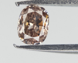 0.11 CTS  , Oval Brilliant cut , Brown natural Diamond