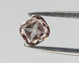 0.09 CTS ,Deep Champagne Diamond , Cushion Brilliant cut