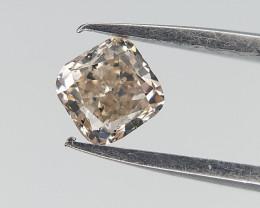 0.21 cts , Yellow natural diamond , Cushion Cut
