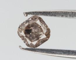 0.08 cts , Natural Cushion Diamond , Brownish Color Diamond