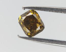 0.15 cts , Yellowish Green Fancy Diamond , Natural SI diamond