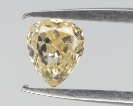 0.15 CTS , Natural yellow Diamond , Pear Brilliant cut
